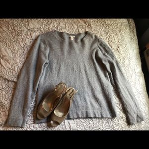 Grey j crew sweater